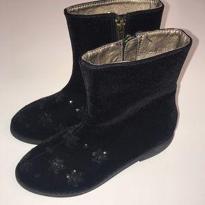Joyfolie Wren Black Velvet Booties